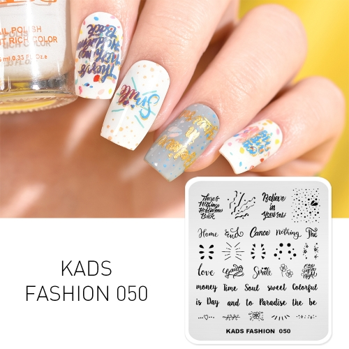 FASHION 050 Nail Stamping Plate Alphabet