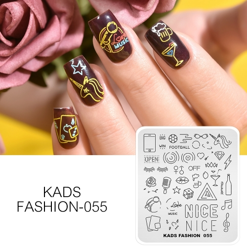 FASHION 055 Nail Stamping Plate Neon