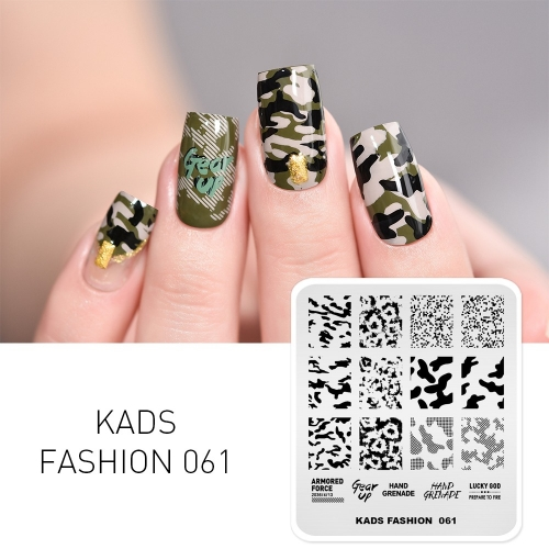 FASHION 061 Nail Stamping Plate Camouflage