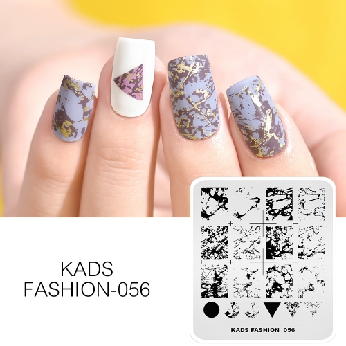 FASHION 056 Nail Stamping Plate Marble