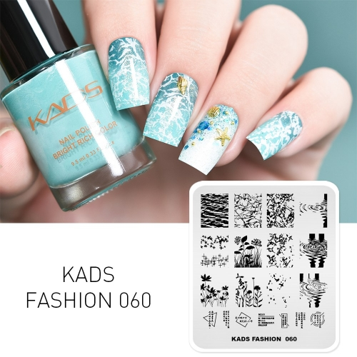 FASHION 060 Nail Stamping Plate Water & Plant