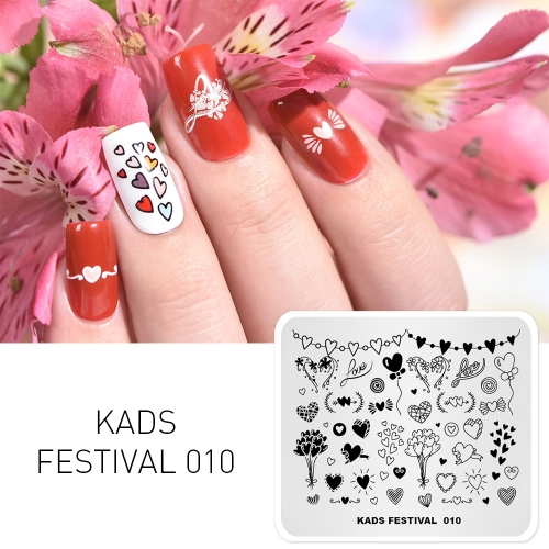 FESTIVAL 010 Nail Stamping Plate Festival Valentine's Day & Love