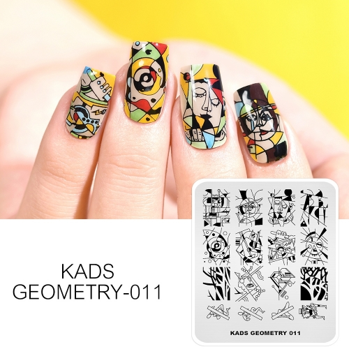 GEOMETRY 011 Nail Stamping Plate Geometry Abstract Painting
