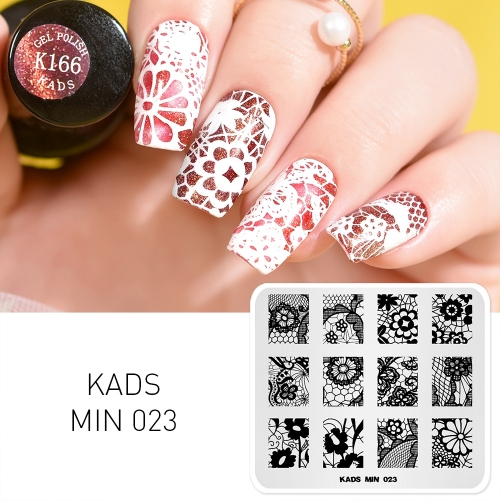 MIN 023 Nail Stamping Plate Flower Lace