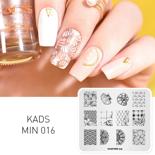 MIN 016 Nail Stamping Plate Flower Shell & Conch & Sailing & Plant