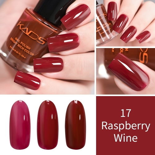 Layers Gradually Crystal Translucent Nail Polish 9.5ml Raspberry Wine Red