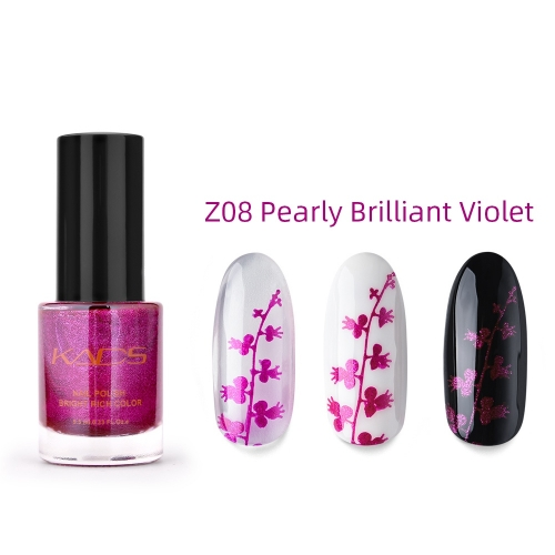 Nail Stamp Polish 9.5ml Pearly Brilliant Violet
