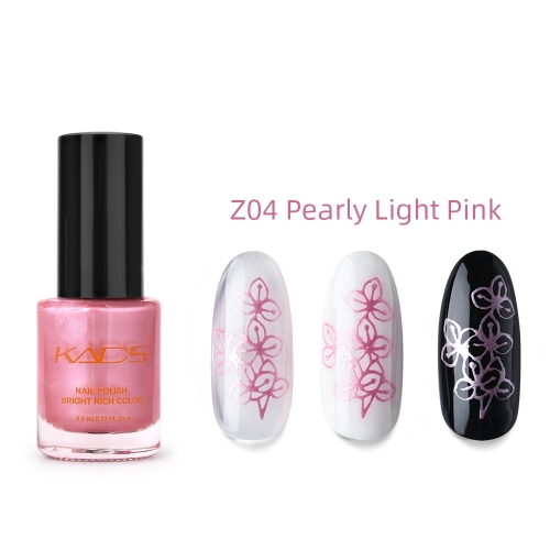 Nail Stamp Polish 9.5ml Pearly Light Pink