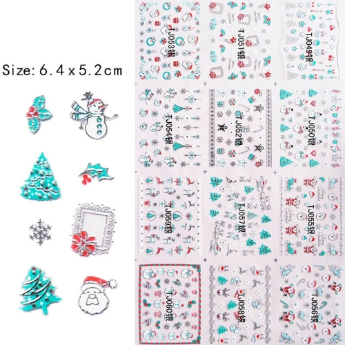 Christmas 2D Adhesive Nail Sticker