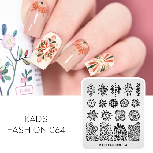 FASHION 064 Nail Stamping Plate Flower