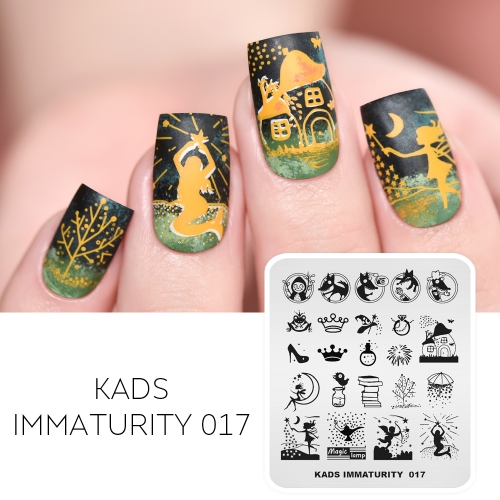 IMMATURITY 017 Nail Stamping Plate Fairy tale & Magic
