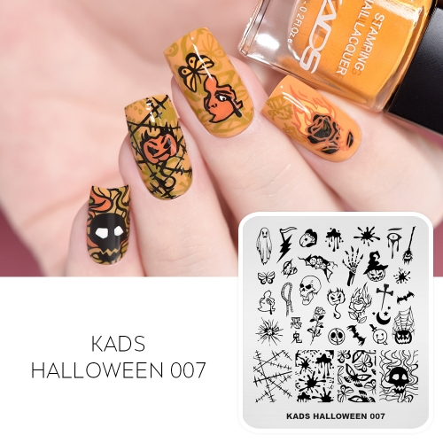 HALLOWEEN 007 Nail Stamping Plate Halloween Ghost