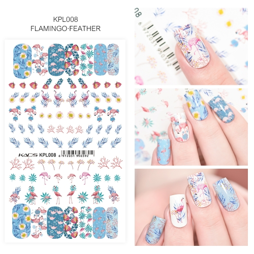 Water Transfer Nail Sticker Flamingo & Feather